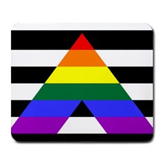 Straight Ally Flag Large Mousepads by Valentinaart