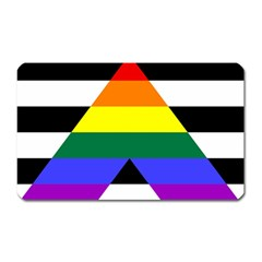 Straight Ally Flag Magnet (rectangular) by Valentinaart