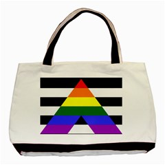 Straight Ally Flag Basic Tote Bag by Valentinaart