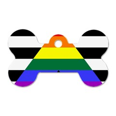 Straight Ally Flag Dog Tag Bone (one Side) by Valentinaart