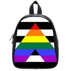 Straight Ally Flag School Bag (small) by Valentinaart