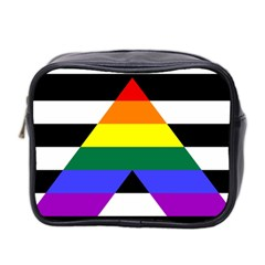 Straight Ally Flag Mini Toiletries Bag 2 Side by Valentinaart