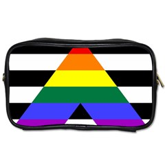 Straight Ally Flag Toiletries Bags 2 Side by Valentinaart