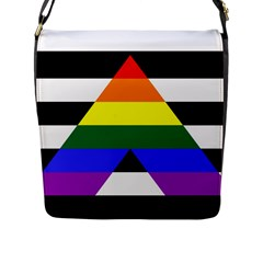 Straight Ally Flag Flap Messenger Bag (l)  by Valentinaart