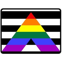 Straight Ally Flag Double Sided Fleece Blanket (large)  by Valentinaart