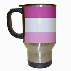 Lesbian Pride Flag Travel Mugs (white) by Valentinaart