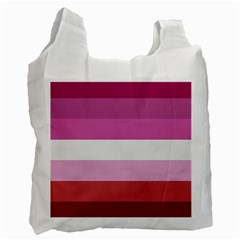 Lesbian Pride Flag Recycle Bag (one Side) by Valentinaart