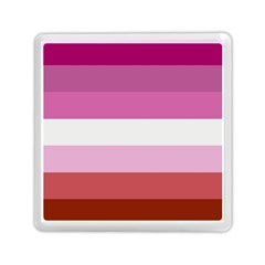 Lesbian Pride Flag Memory Card Reader (square)  by Valentinaart