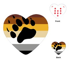 Bear Pride Flag Playing Cards (heart)  by Valentinaart
