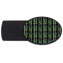 Bamboo Pattern Usb Flash Drive Oval (4 Gb) by ValentinaDesign