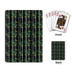 Bamboo Pattern Playing Card by ValentinaDesign