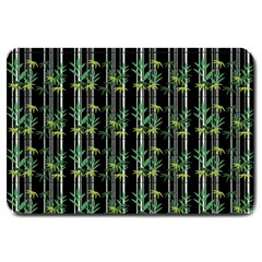 Bamboo Pattern Large Doormat  by ValentinaDesign