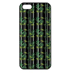 Bamboo Pattern Apple Iphone 5 Seamless Case (black) by ValentinaDesign