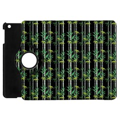 Bamboo Pattern Apple Ipad Mini Flip 360 Case by ValentinaDesign