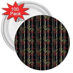 Bamboo Pattern 3  Buttons (100 Pack)  by ValentinaDesign