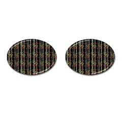 Bamboo Pattern Cufflinks (oval) by ValentinaDesign