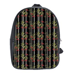 Bamboo Pattern School Bag (xl) by ValentinaDesign