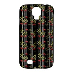 Bamboo Pattern Samsung Galaxy S4 Classic Hardshell Case (pc+silicone) by ValentinaDesign
