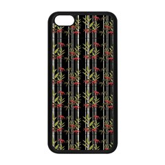 Bamboo Pattern Apple Iphone 5c Seamless Case (black) by ValentinaDesign