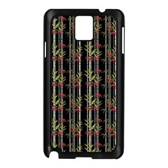 Bamboo Pattern Samsung Galaxy Note 3 N9005 Case (black) by ValentinaDesign