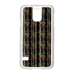 Bamboo Pattern Samsung Galaxy S5 Case (white) by ValentinaDesign