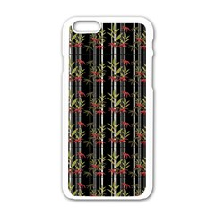 Bamboo Pattern Apple Iphone 6/6s White Enamel Case by ValentinaDesign