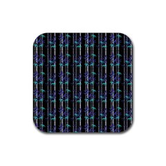 Bamboo Pattern Rubber Square Coaster (4 Pack)  by ValentinaDesign