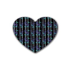 Bamboo Pattern Heart Coaster (4 Pack)  by ValentinaDesign