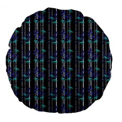 Bamboo Pattern Large 18  Premium Flano Round Cushions by ValentinaDesign