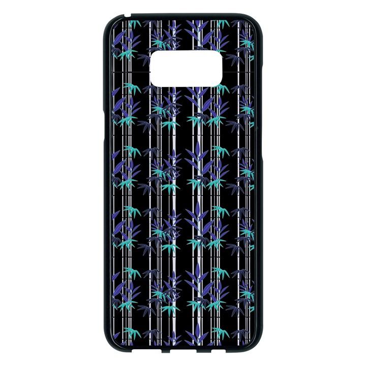 Bamboo pattern Samsung Galaxy S8 Plus Black Seamless Case