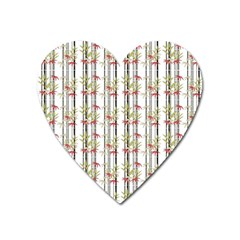 Bamboo Pattern Heart Magnet by ValentinaDesign