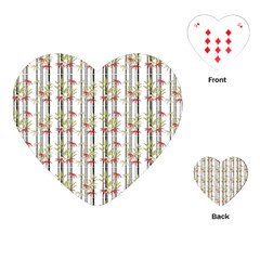 Bamboo Pattern Playing Cards (heart)  by ValentinaDesign