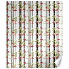 Bamboo Pattern Canvas 20  X 24   by ValentinaDesign