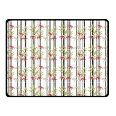 Bamboo Pattern Fleece Blanket (small) by ValentinaDesign