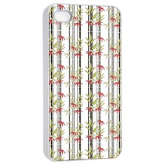 Bamboo Pattern Apple Iphone 4/4s Seamless Case (white) by ValentinaDesign