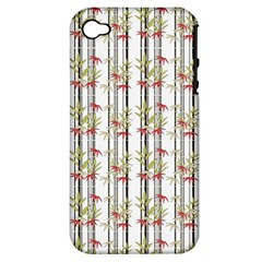 Bamboo Pattern Apple Iphone 4/4s Hardshell Case (pc+silicone) by ValentinaDesign