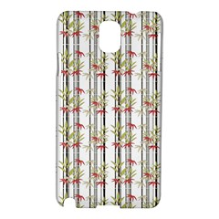 Bamboo Pattern Samsung Galaxy Note 3 N9005 Hardshell Case by ValentinaDesign