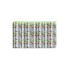 Bamboo Pattern Cosmetic Bag (xs) by ValentinaDesign