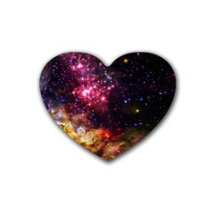 Space Colors Rubber Coaster (heart)  by ValentinaDesign