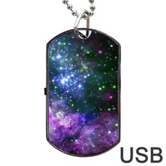 Space Colors Dog Tag Usb Flash (one Side) by ValentinaDesign