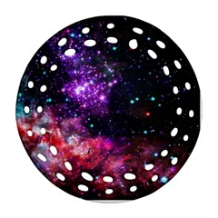 Space Colors Ornament (round Filigree) by ValentinaDesign
