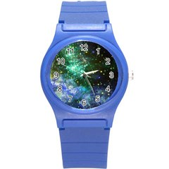 Space Colors Round Plastic Sport Watch (s) by ValentinaDesign