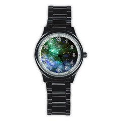 Space Colors Stainless Steel Round Watch by ValentinaDesign
