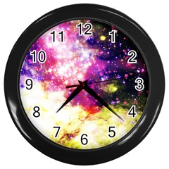 Space Colors Wall Clocks (black) by ValentinaDesign