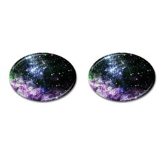 Space Colors Cufflinks (oval) by ValentinaDesign