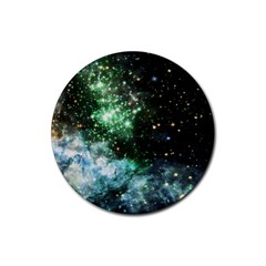 Space Colors Rubber Coaster (round)  by ValentinaDesign