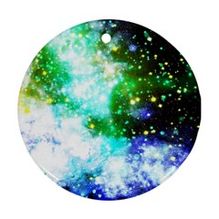 Space Colors Round Ornament (two Sides) by ValentinaDesign