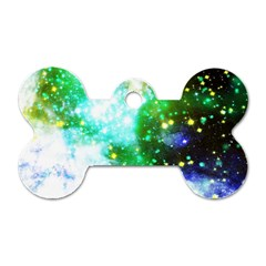 Space Colors Dog Tag Bone (two Sides)