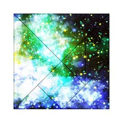 Space Colors Acrylic Tangram Puzzle (6  X 6 ) by ValentinaDesign
