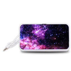Space Colors Portable Speaker (white) by ValentinaDesign
